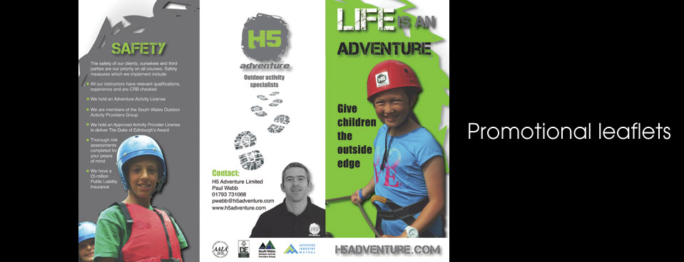 H5 Outdoor Adventure leaflet